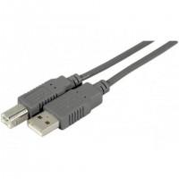 Cordon éco USB 2.0 A / B gris - 1.8 m