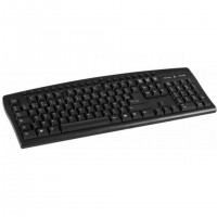 Dacomex 225106, Standard, Avec fil, USB, Clavier à membrane, AZERTY, Noir