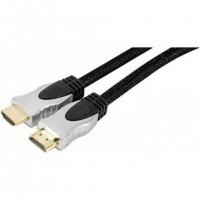 Tecline HDMI M/M 2m, 2 m, HDMI Type A (Standard), HDMI Type A (Standard), 4096 x 2160 pixels, Compatibilité 3D, Noir, Argent