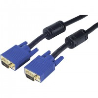 Cable SVGA Noir CUC Exertis Connect HD15 M/M - compatible LCD 15 fils - 15,00m + Ferrite