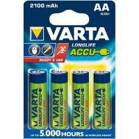 Batteries NiMH AA/LR6 1.2 V 2100 mAh R2U 4-blister