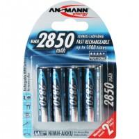 Ansmann 5035092, Hybrides nickel-métal (NiMH), 4 pièce(s), 2850 mAh, Argent, 14.5 x 50.5