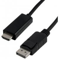 Câble DisplayPort mâle / HDMI mâle - 2m Noir