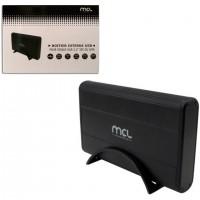 MCL HDD external aluminium case USB 2.0 Alimenté par port USB Argent