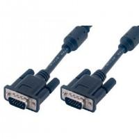 Cable SVGA Noir MCL HD15 - M/M - 3M - Surblindé - 3 COAX+9 FILS