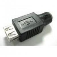 Changeur de genre USB type A femelle / mini din 6 male