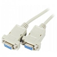 CABLE NULL MODEM DB9F/F 1,8M