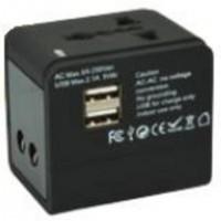 Port Designs 900026, Intérieur, Secteur, USB, Noir