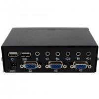 Сommutateur vous Permet de Contrôler 2 Ordinateurs, Connecteurs UC: 2x USB, 2x HD15, 4x Jack 3.5mm, Connecteurs console: 2x USB,