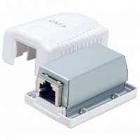 Boitier mural Cat6 contact CAD, 1 port RJ45 blindé