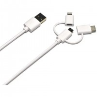 Port Designs 900075, 1,2 m, USB A, Micro-USB A, Blanc