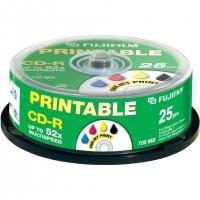 Fujifilm CD-R printable 700MB inkjet consumer 25-spindle, 700 Mo, 25 pièce(s), 80 min, 52x