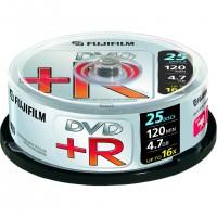 Fujifilm DVD+R 4.7GB 25-spindle 16x, 4,7 Go, 120 mm, 25 pièce(s), 120 min, 45 - 85, 0,74 µm