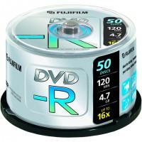 Fujifilm DVD-R 4,7Gb 50-spindle 16x, 4,7 Go, 120 mm, 50 pièce(s), 120 min, 45 - 85, 0,74 µm