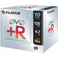 Fujifilm DVD+R 4,7Gb jewelcase 16x, 4,7 Go, 120 mm, 10 pièce(s), 120 min, 45-85%, 0,74 µm