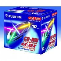 Fujifilm CD-Rewritable 700MB 4X-12X 10-pack, 700 Mo, 10 pièce(s), 80 min, Polycarbonate