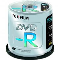 Fujifilm DVD-R 4.7GB 16x 100pk, 4,7 Go, DVD-R, 120 mm, 100 pièce(s), 45 - 85%, 0,74 µm
