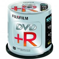 Fujifilm DVD+R 4.7GB 16x 100pk, 4,7 Go, DVD+R, 100 pièce(s), 45 - 85%, 0,74 µm, 1,2 mm